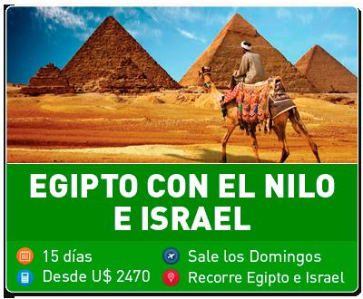 Egipto con el Nilo e Israel