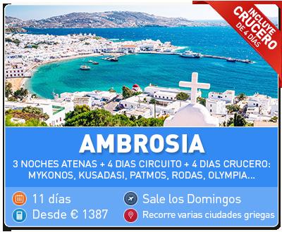 Tour Grecia Ambrosia