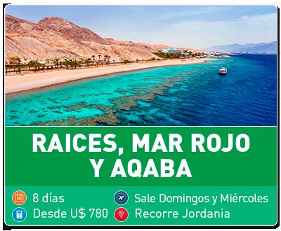 Tour Raíces, Mar Rojo y Aqaba